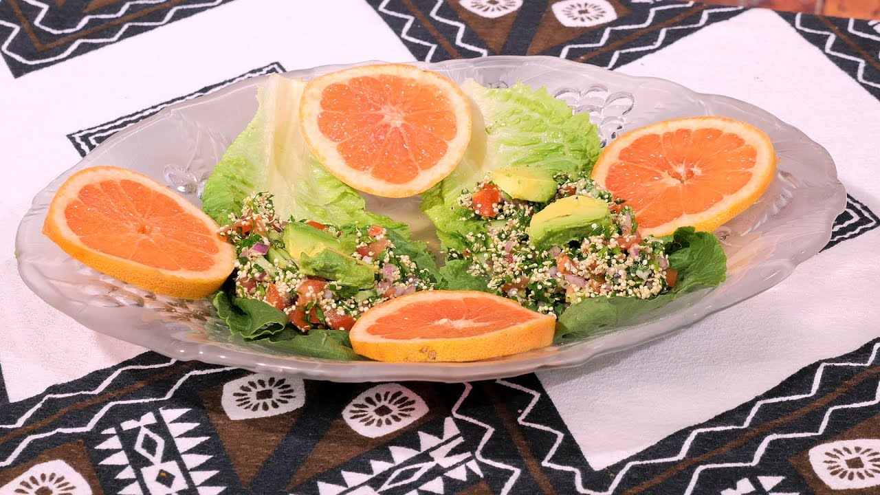 Cena ligera saludable ensalada libanesa tabbouleh con - Cena romantica ligera ...