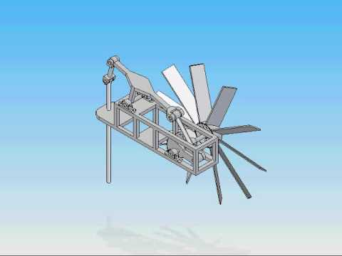 modified version of wind powered water pump youtube