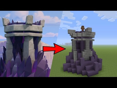 How to Build a Clash of Clans Wizard Tower in Minecraft PS4, Xbox One - Minecraft Tutorial