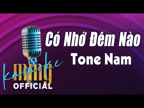 Có Nhớ Đêm Nào (Karaoke Tone Nam) | Hát với MMG Band