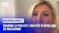 Marine Le Pen face à Apolline de Malherbe en direct