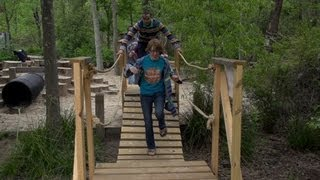 Tree Amigos From Rice Design And Build A Bridge At The Houston Arboretum
