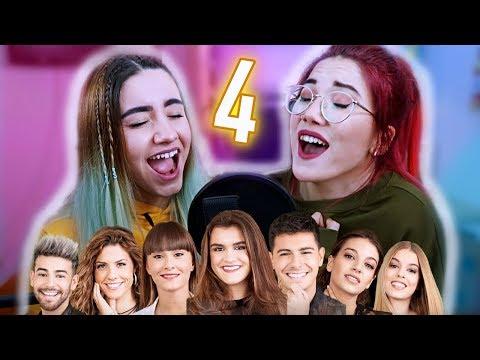 IMITANDO VOCES DE CANTANTES # 4 (OT) CON MI HERMANA | Carla Laubalo