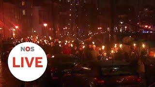 LIVE: Fakkeltocht in Groningen tegen gaswinning
