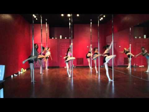 Pole Fitness Routine taught at Vertical Fitness Studio in Jacksonville Beach, FL