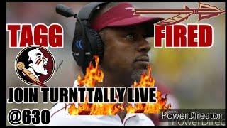 FSU FOOTBALL.WILLIE TAGGART FIRED.SO WHAT NOW?NEXT HIRE BOB STOOPS OR LANE KIFFIN?DISCUSSION