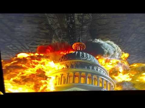 Independence Day Aliens Attack Scene