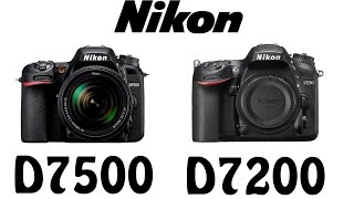 Nikon D7500 vs Nikon D7200
