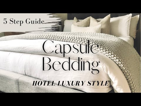 HOTEL LUXURY CAPSULE BEDDING | 5 Step Guide | Affordable Bed Essentials
