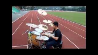 鈴華ゆう子with和楽器バンド 千本桜 drum cover outdoor series travis liang