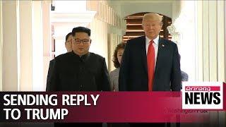 N. Korea's top nuclear negotiator en route to Washington with Kim Jong-un's letter to Pres. Trump