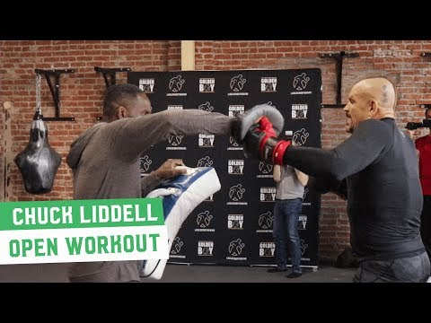 Chuck Liddell Works Out While Tito Ortiz Heckles