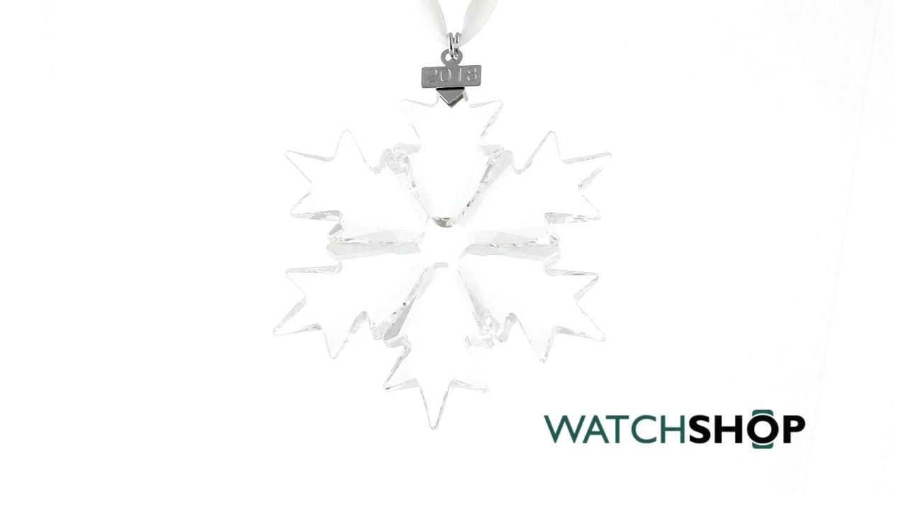 c7af63fb7e37 Swarovski Annual Edition Christmas Ornament (2018) - YouTube
