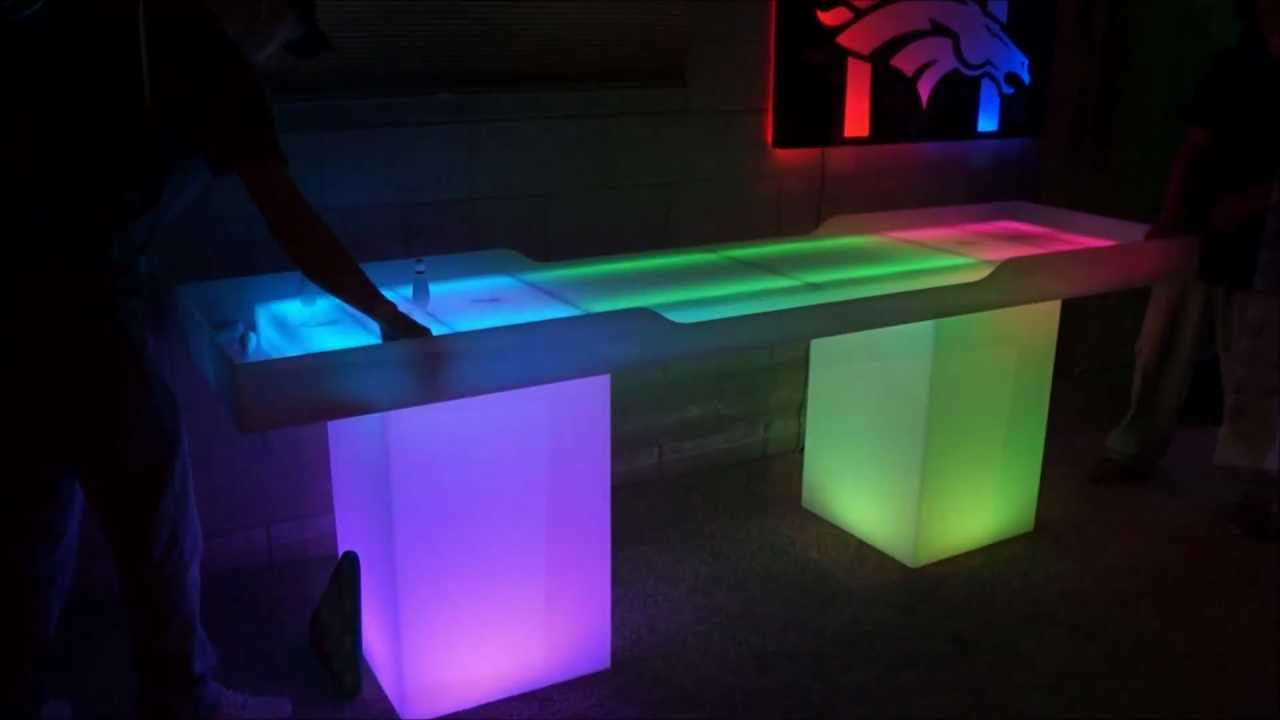 Led Lighted Shuffledboard Table Youtube