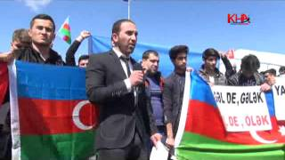 azerbaycanlı öğrenciler ermenistanı protesto etti kafkas haber ajansı www kha com tr kha