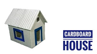 DIY Cardboard House | How To Make Cardboard House For School Project | Small Cardboard House