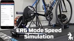 Wahoo KICKR ERG Mode Speed Simulation