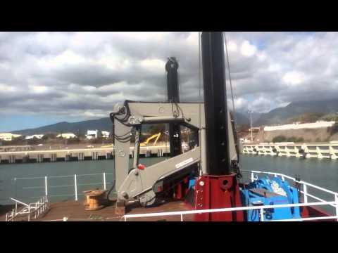 Plateforme seanergy au quai céréalier du Port Ouest Réunion.