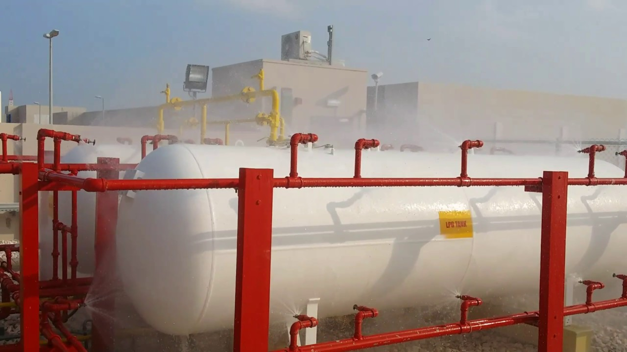 Deluge System For Lpg Tank Youtube
