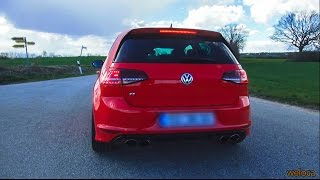 golf vii r 300hp dsg   0 100   launch control   sound   aerial view