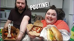 CHIP TRUCK POUTINE AND HOT DOGS MUKBANG WITH PEETZ!