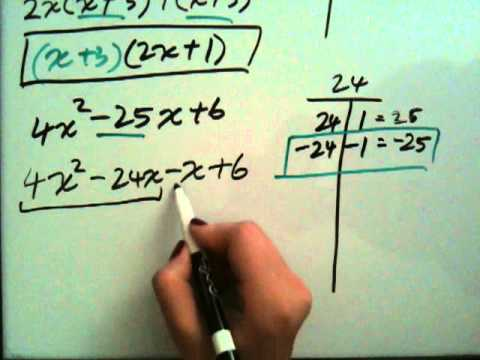 How to Factor Trinomials ax^2+bx+c. - YouTube