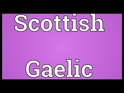 Scottish Gaelic Meaning