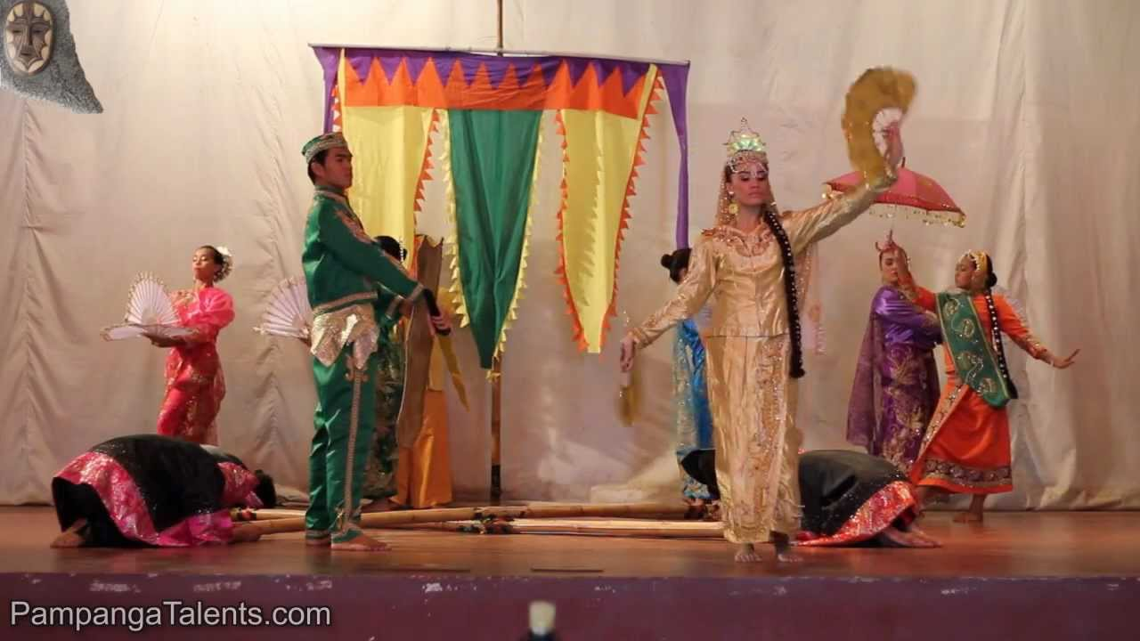 Intricate costumes used by Filipino Singkil folk dancers