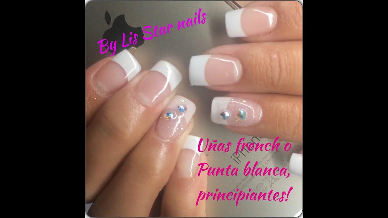 Uñas de Acrilico French o Punta Blanca (tutorial principiantes) #3 ...