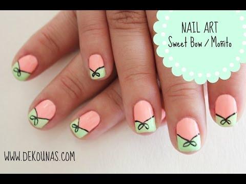 Decoracion de uñas Moño / sweet bow nail art