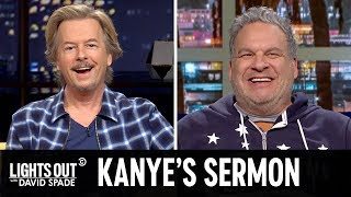 Kanye West's Megachurch Debut (feat. Jeff Garlin) - Lights Out with David Spade
