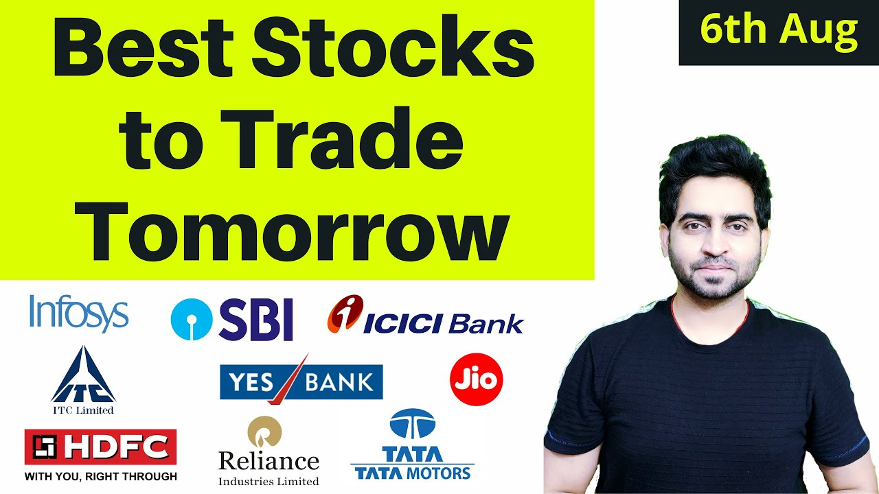 BEST STOCKS TO TRADE ON 6 AUG 2020 I HDFC LIFE ,RELIANCE ,INDUSIND BANK ,INFOSYS , MARUTI