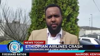6MIN BEFORE ETHIOPIAN AIRLINE CRASH -  MESSAGE OF CONDOLENCE AND REFLECTION  .
