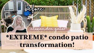 PRETTIEST BOHO PATIO MAKËOVER | ~VIBEY RENTAL CONDO PATIO TRANSFORMATION~