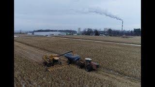 Mid December Corn Harvest in Western New York