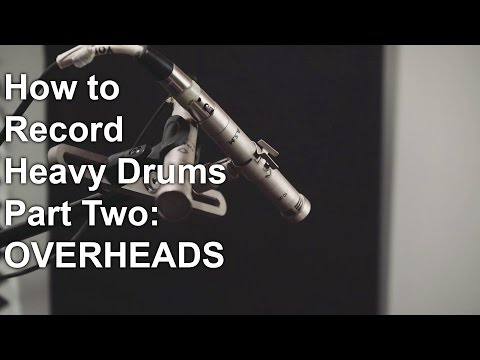 How to record Heavy Drums part two - OVERHEADS  | SpectreSoundStudios TUTORIAL