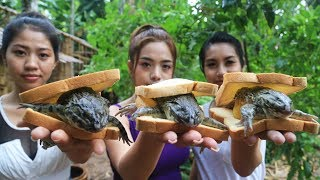 Yummy cooking frog sandwich recipe - Cooking skill