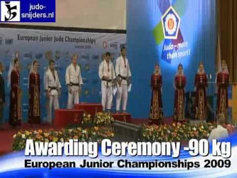 Judo 2009 Yerevan: Awarding Ceremony [-90kg]