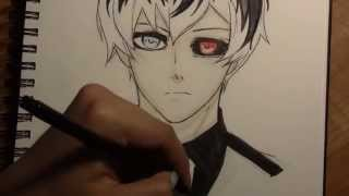 Drawing Sasaki Haise from the manga Tokyo Ghoul: Re