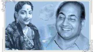 Mohd Rafi, Geeta Dutt: Yahan hum wahan tum Film - Shrimati 420 (1956)