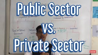 What is the difference between the Public Sector and Private Sector?