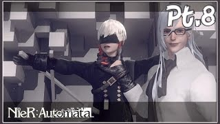 NieR Automata Walkthrough Part 8 - Copied City, Boss Adam 2