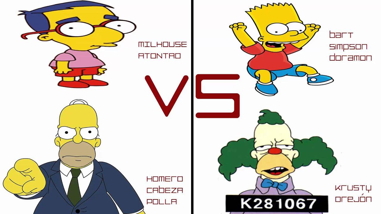 Homer y milhouse vs bart y krusty youtube - Bart et milhouse ...