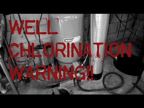 Well Chlorination Warning Tip