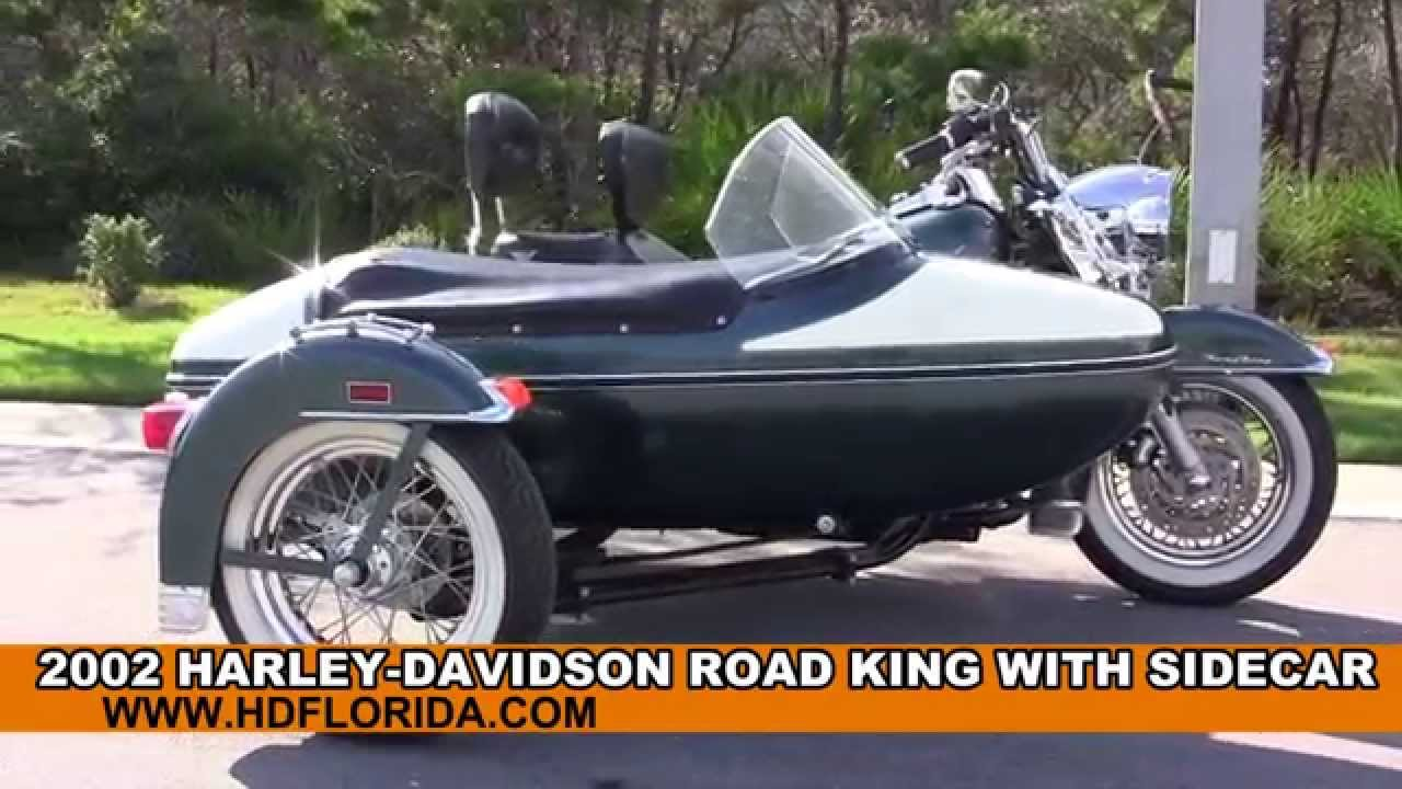 Used 2002 Harley Davidson Road King with Sidecar Motorcycles for sale