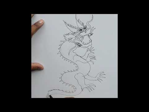 How to draw A Dragon|  A Dragon drawing