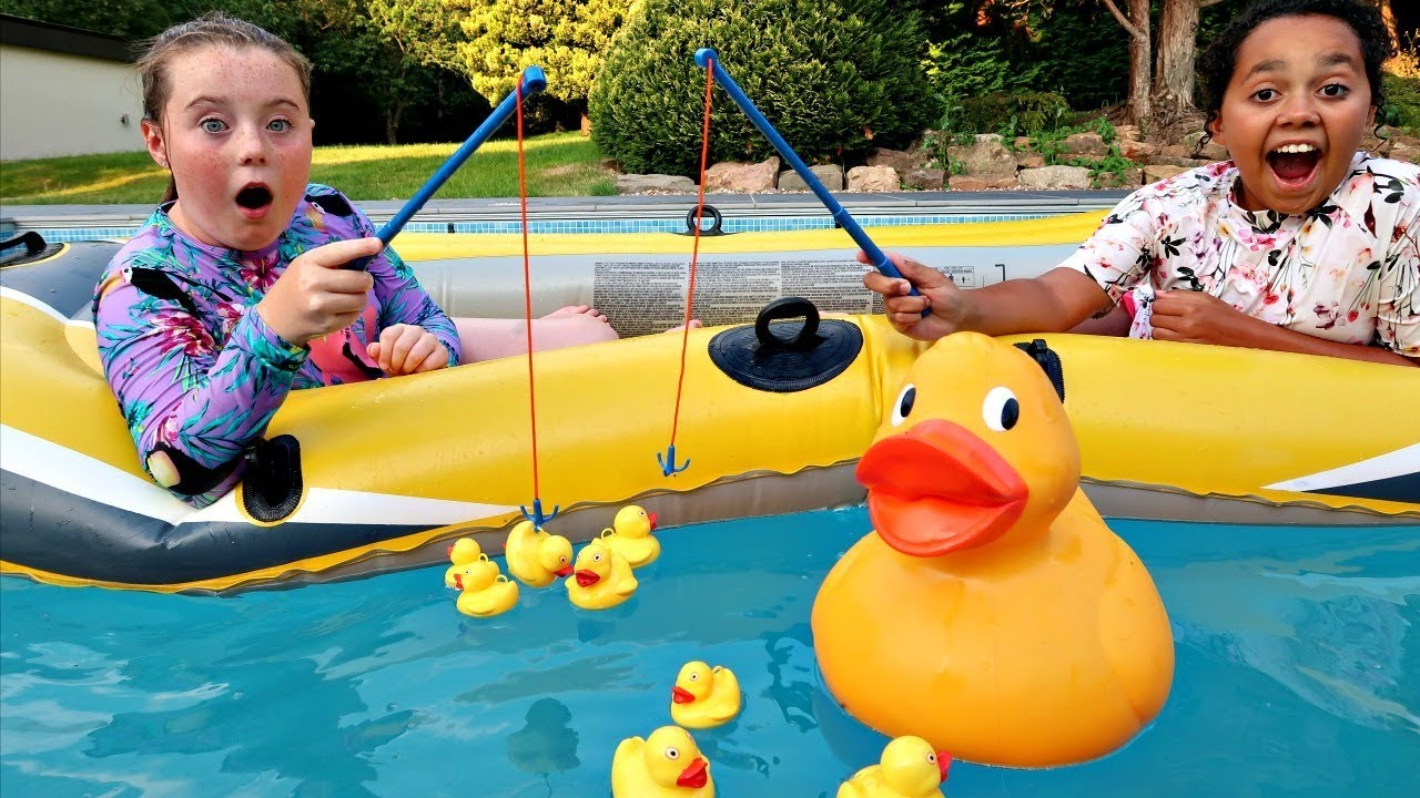 Hook A Duck Pool Challenge New Lol Surprise Lil Baby