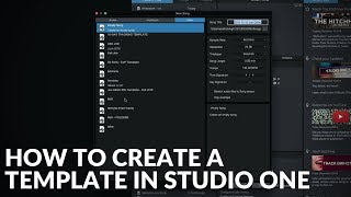 Studio One Minute: How to Create a Template in Studio One