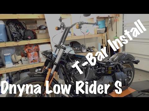 Harley Dyna Low Rider S Westcoast T-Bars Install | Biker Podcast