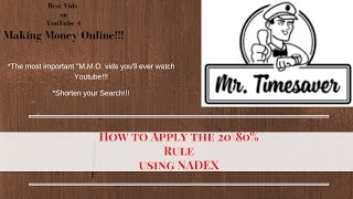 How to Apply  the  20\80% Rule using NADEX